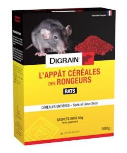 L'Appât céréales des rongeurs(Rats)